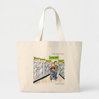 Walrus Frozen Food Section Funny Large Tote Bag
