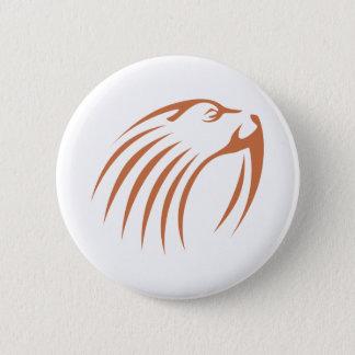 Walrus in Swish Drawing Style Pinback Button