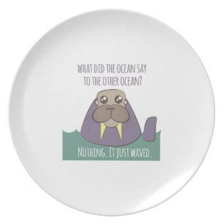 Walrus Joke Plate