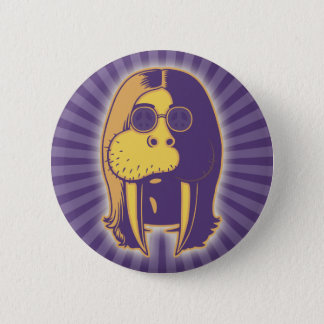 Walrus Man Button
