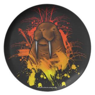Walrus Melamine Plate