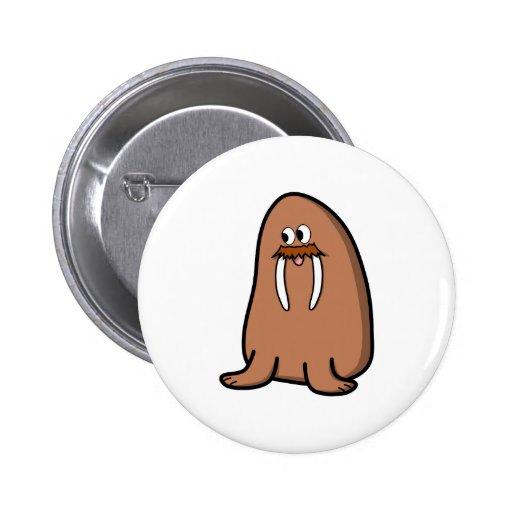 Walrus. Pinback Button