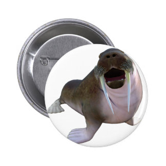 Walrus Pinback Button