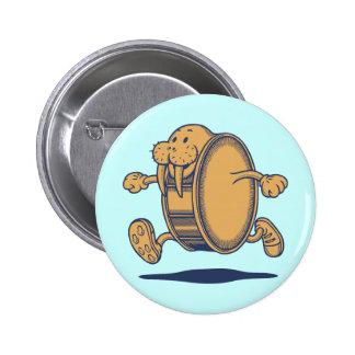 Walrus Run Drum 2 Inch Round Button
