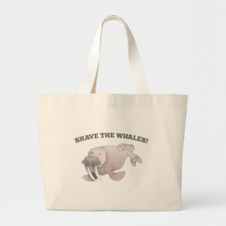 Walrus SHAVE THE WHALES Jumbo Tote Bag