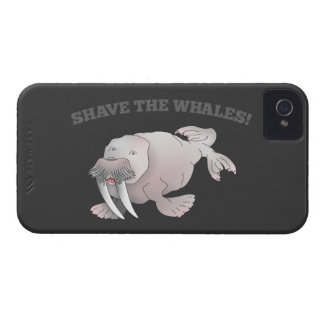 Walrus SHAVE THE WHALES iPhone 4 Cover