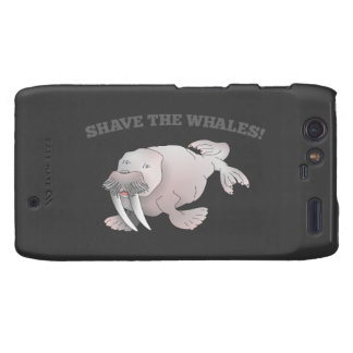 Walrus SHAVE THE WHALES Droid RAZR Covers