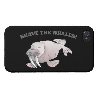 Walrus SHAVE THE WHALES iPhone 4/4S Cover
