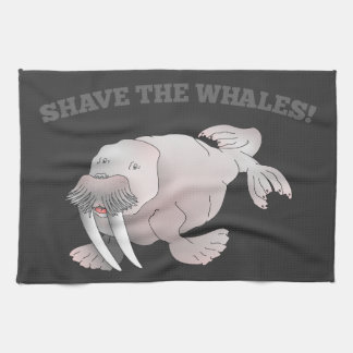 Walrus SHAVE THE WHALES Hand Towels