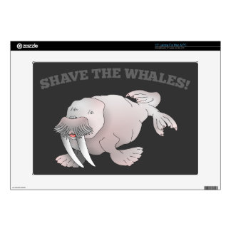 Walrus SHAVE THE WHALES Laptop Skins
