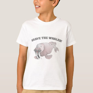 Walrus SHAVE THE WHALES T-Shirt