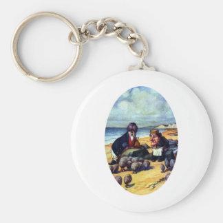 Walrus & the Carpenter Basic Round Button Keychain