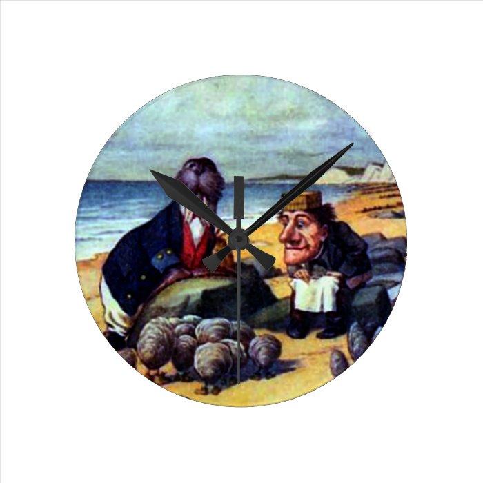 Walrus & the Carpenter Round Clock