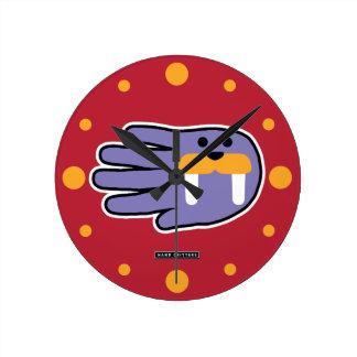 Walrus Tusks Round Clock