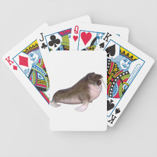 Walrus with quizzical look bicycle playing cards