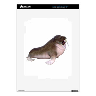 Walrus with quizzical look decal for iPad 2