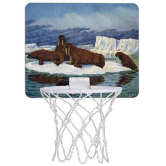Walruses on an Ice Floe Mini Basketball Hoop