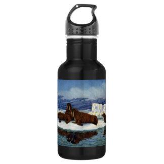 Walruses on an Ice Floe 18oz Water Bottle