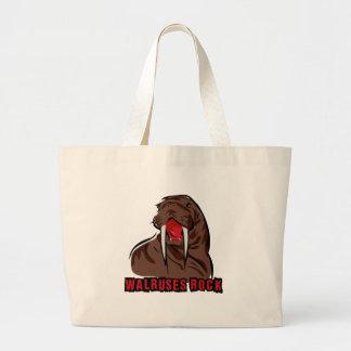 Walruses Rock Large Tote Bag