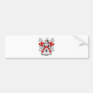 WALSH Coat of Arms Car Bumper Sticker