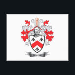 """Walsh-Coat-of-Arms Canvas Print<br><div class=""""desc"""">Get your Walsh family crest or coat of arms printed on all these inexpensive gifts</div>"""