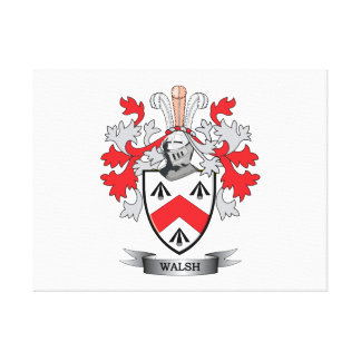 Walsh-Coat-of-Arms Canvas Print