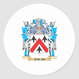 Walsh Coat of Arms - Family Crest Classic Round Sticker