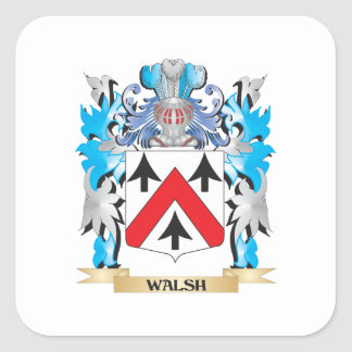 Walsh Coat of Arms - Family Crest Square Sticker