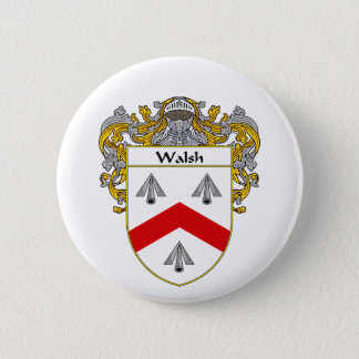 Walsh Coat of Arms (Mantled) Button
