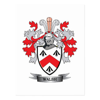 Walsh Coat of Arms Postcard