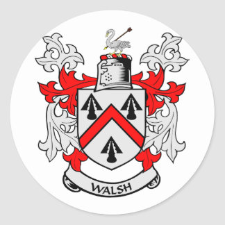 WALSH Coat of Arms Classic Round Sticker
