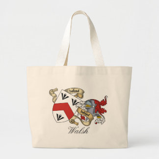 Walsh Family Crest Tote Bags