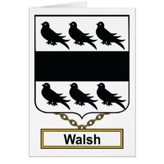 Walsh Family Crest Greeting Cards