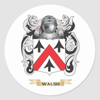 Walsh Family Crest (Coat of Arms) Classic Round Sticker