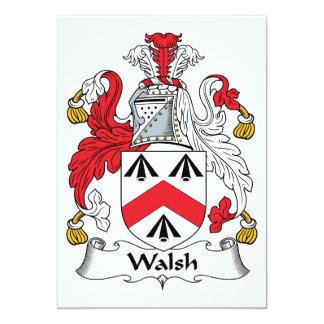 Walsh Family Crest Custom Invitations