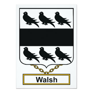 Walsh Family Crest Personalized Announcements