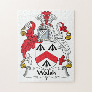 Walsh Family Crest Jigsaw Puzzle
