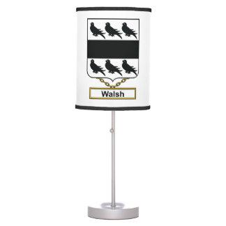 Walsh Family Crest Desk Lamps