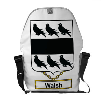 Walsh Family Crest Courier Bag