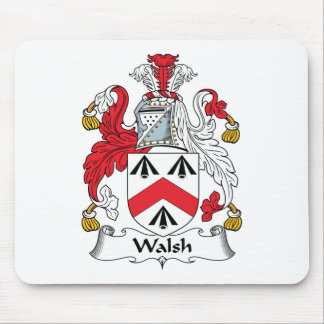 Walsh Family Crest Mouse Pads