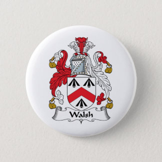 Walsh Family Crest Pinback Button