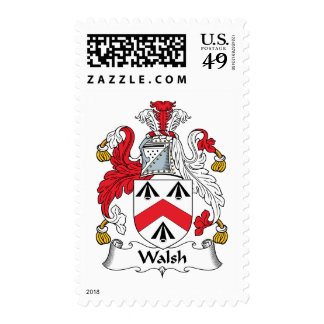 Walsh Family Crest Postage Stamp