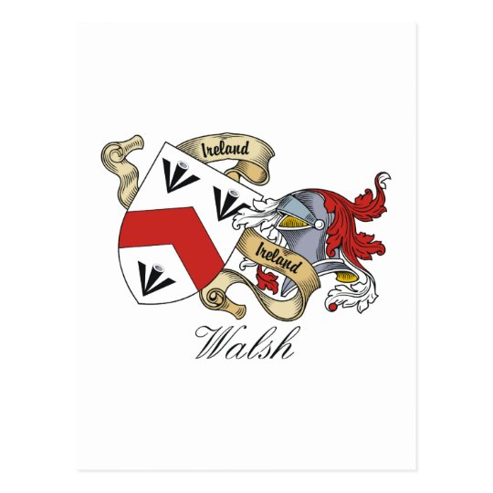 Walsh Family Crest Postcard