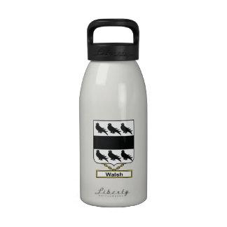 Walsh Family Crest Water Bottle