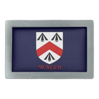 Walsh Family Shield Belt Buckle