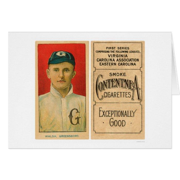 Walsh Greensboro Baseball 1910 Card