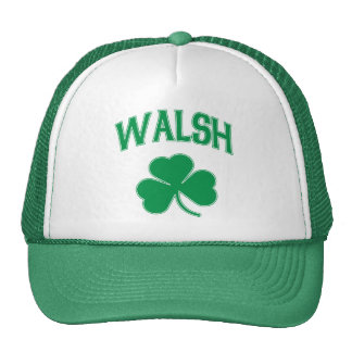 Walsh Irish Shamrock Trucker Hat