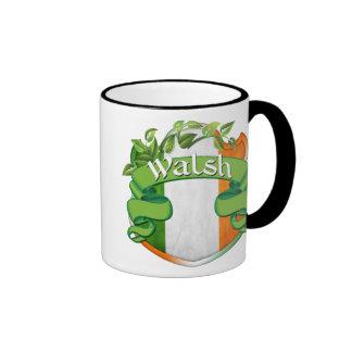 Walsh Irish Shield Ringer Mug