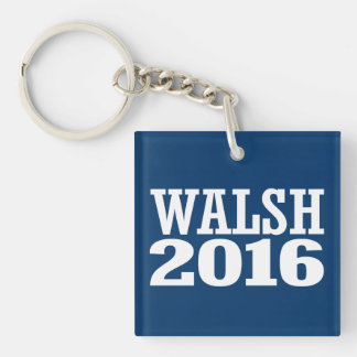 Walsh - Joe Walsh 2016 Llavero Cuadrado Acrílico A Doble Cara