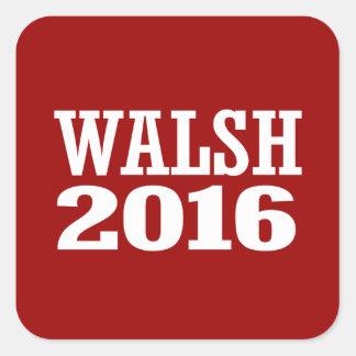 Walsh - Joe Walsh 2016 Pegatina Cuadrada